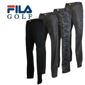 【50%OFFセール】 フィラゴルフ (FILA GOLF) ボンディングパンツ ブラックエンボス メンズ 2016秋冬/2016AWap_SALE|ogawagolf