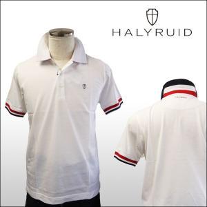 ハリールイド(HALYRUID) 半袖 トリコロールリブ配色 ポロシャツ ogawagolf