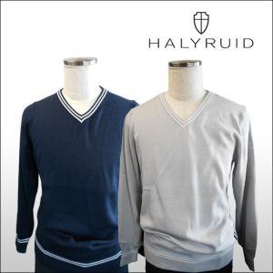 ハリールイド(HALYRUID) ダブルラインVネック セーター ogawagolf