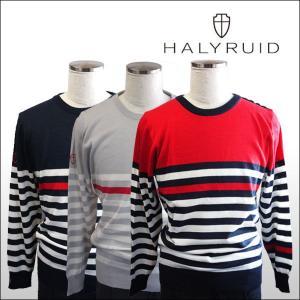 ハリールイド(HALYRUID) ショルダーボタンボーダー セーター ogawagolf