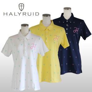 ハリールイド(HALYRUID) ロゴ総柄 半袖ポロシャツ レディース|ogawagolf