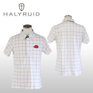 ハリールイド(HALYRUID) チェックボタンダウン 半袖ポロシャツ メンズ ogawagolf