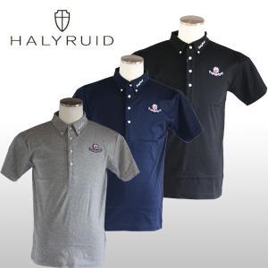 ハリールイド(HALYRUID) ロゴワッペン ボタンダウン半袖ポロシャツ メンズ ogawagolf
