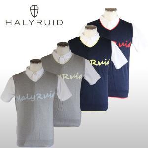 ハリールイド(HALYRUID) 胸ロゴ ニットベスト メンズ ogawagolf