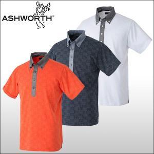【60%OFF クリアランスセール】 アシュワース(ASHWORTH)S/S ランダムドット 半袖ポロシャツ|ogawagolf