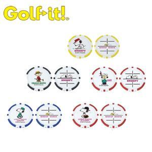 【DM便対応】 ライト (LITE) ゴルフチップマーカー スヌーピー|ogawagolf