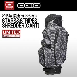 オジオ (OGIO) シュレッダーSHREDDER カートバッグ 2016限定コレクション STARS&STRIPES 10型 47インチクラブ対応 キャディバッグ 2016年モデル|ogawagolf