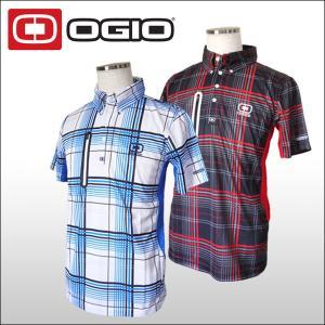 【60%OFF クリアランスセール】 オジオ(OGIO)コアプレイド柄 ボタンダウン半袖ポロシャツ メンズ|ogawagolf