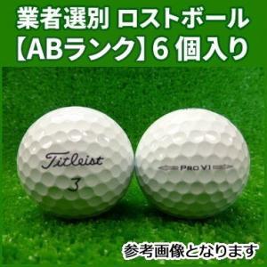 【ABランク】タイトリスト プロ V1 2013年 ホワイト 6個入り 業者選別 ロストボール Ti...