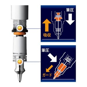 送料無料 もう 折れない デルガード シャープペンシル 0.3ミリ芯ゼブラ P-MAS85-BL 名入れできません|ogawahan|04