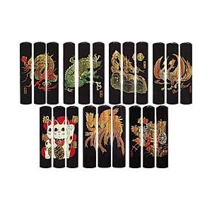 黒水牛 印鑑 実印 銀行印 龍 13.5mm 蒔絵シリーズ はんこ 送料無料|ogawahan
