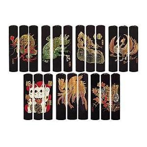 送料無料 黒水牛 蒔絵シリーズ 龍 絵 12mm 印鑑 はんこ 銀行印|ogawahan