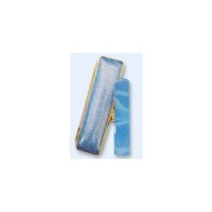 風水印鑑 ハッピークリスタル ブルー 12mm  クリスタルクロコ金セット 印鑑 実印 はんこ 銀行印|ogawahan