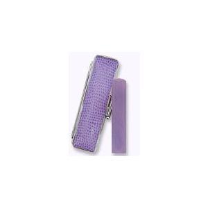 風水印鑑 アクアフェアリー紫 12mm  サニーケースセット 印鑑 実印 はんこ|ogawahan