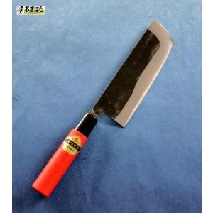 澤数馬 玉日本(梅鉢)野菜収穫用庖丁 3枚打 165mm 赤柄|ogihara-k