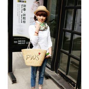【あすつく】カゴバッグ 手提げバッグ トート ショルダー 天然ペーパー素材 レディース メンズ|ogiya