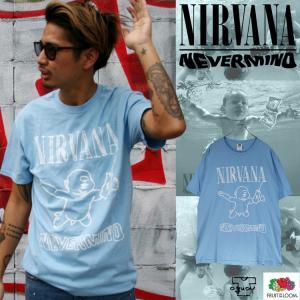 NIRVANA 「ニルヴァーナ」「NEVER MIND」 バンドTシャツ ロックTシャツ 「FLUIT OF THE LOOM」フルーツオブザルーム USA規格|oguoy
