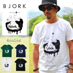 BJORK 「ビョーク 」「グレイテスト・ヒッツ」Tシャツ アートワーク バンドTシャツ ロックTシャツ|oguoy