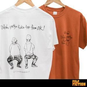 パルプフィクション 「BUTCH & MARSELLUS」「PRETTY FUCKIN FAR FLOM OK」 PULP FICTION 映画Tシャツ|oguoy