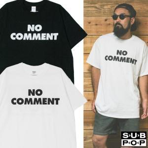 SUB POP 「NO COMMENT 」 オルタナ ロック グランジ バンド Tシャツ   USA企画 oguoy