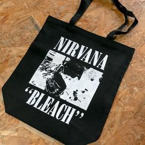 NIRVANA 「BLEACH 」キャンバス トートバッグ 10L ニルヴァーナ ブリーチ ブラック oguoy