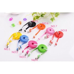送料無料 iPhone5 iPhone5s iPhone6 iPhone6s スマホ カラフル カラー 充電コード ケーブル コネクタ usbケーブル|ogurakomu