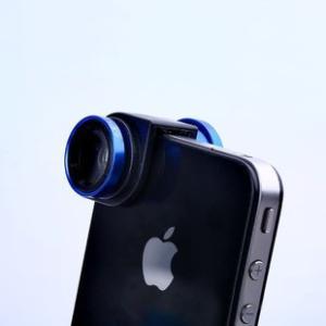 スマートフォン クリップ セルカレンズ iphone5-5S 0.67倍広角マクロ魚眼三in一レンズ|ogurakomu