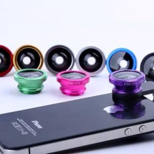 スマートフォン クリップ セルカレンズ 0.67倍広角マクロ魚眼三in一レンズ 携帯直接付け|ogurakomu