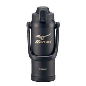 MIZUNO(ミズノ) 数量限定! ポカリスエット1L用パウダー付き 象印-ZOJIRUSHI- ステンレスクールボトル 2.06L ブラック 2ZA2220|oguspo