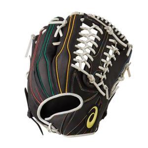 アシックス(asics)21%OFF! 軟式野球グラブ カラーグラブ2020 外野手用 限定品 ブラック×レインボー 3121A576  oguspo