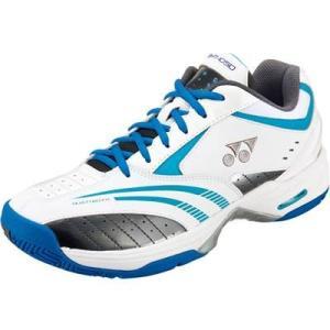 YONEX(ヨネックス) クレー・オムニコート専用 テニスシューズ SHT105D パワークッション105D(207)ホワイト×ブルー|oguspo