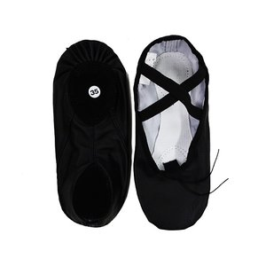 バレエシューズ 全革 スプリットソール ダンス 20.0-25.5cm ブラック バレエ用品(ゆうパケット選択可)|ohana|04