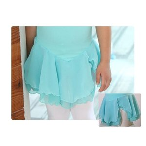 (B級品)(訳有り)(返品不可)バレエ レオタード 子供用 キャミ 胸元レース ラインストーン スカート付 100サイズ バレエ用品(ゆうパケット選択可) ohana 04