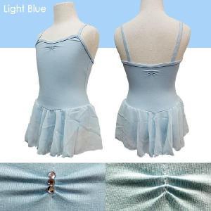 バレエ レオタード 子供用 スカート付 ラインストーン キャミ型 バレエ用品(ゆうパケット送料無料選択可)|ohana|05