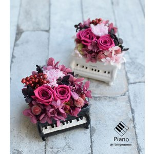 花 プリザーブドフラワー ピアノアレンジ 誕生日 ギフトお祝い ohanakakumei 02