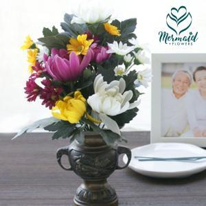お供え花  お悔やみ 花 お彼岸 高級造花  -シルク仏花 - 1つ  お供え お盆|ohanakakumei