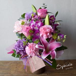 敬老の日 ギフト アレンジ 花束 ユリ 洋ラン...の詳細画像3