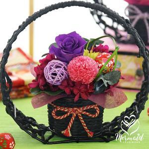 敬老の日 プレゼント 花 ギフト プリザーブドフラワー 華やか和風  てまり プリザ 和風  ブリザ ohanakakumei