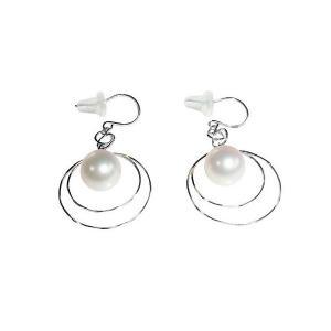 あこや 本真珠 パール K14WG ムーン デザイン  ピアス ホワイト 7.0-7.5mm 入学式 卒業式 フォーマル カジュアル 結婚式 パーティ|ohashi-pearl
