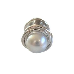 あこや 本真珠 パール SV タイピン タイタック 11 グレー 7.0-7.5mm スーツ ネクタイ ワイシャツ ビジネス フォーマル 冠婚葬祭 ohashi-pearl