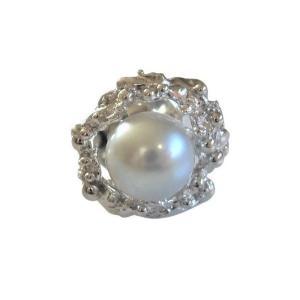 あこや 本真珠 パール SV タイピン タイタック 36 グレー 8.0-8.5mm スーツ ネクタイ ワイシャツ ビジネス フォーマル 冠婚葬祭 ohashi-pearl