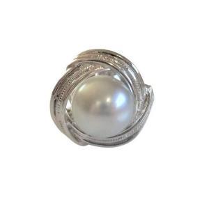 あこや 本真珠 パール SV タイピン タイタック 39 グレー 8.0-8.5mm スーツ ネクタイ ワイシャツ ビジネス フォーマル 冠婚葬祭 ohashi-pearl