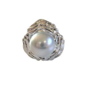 あこや 本真珠 パール SV タイピン タイタック 41 グレー 8.0-8.5mm スーツ ネクタイ ワイシャツ ビジネス フォーマル 冠婚葬祭 ohashi-pearl