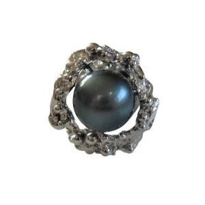 あこや 本真珠 パール SV タイピン タイタック 36 ブラックグリーン 8.0-8.5mm スーツ ネクタイ ワイシャツ ビジネス フォーマル 冠婚葬祭 ohashi-pearl