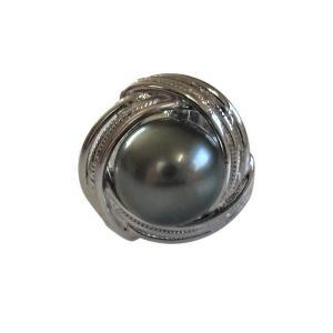 あこや 本真珠 パール SV タイピン タイタック 39 ブラックグリーン 8.0-8.5mm スーツ ネクタイ ワイシャツ ビジネス フォーマル 冠婚葬祭 ohashi-pearl
