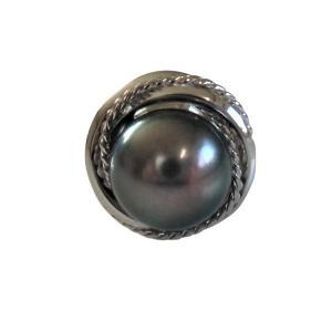 あこや 本真珠 パール SV タイピン タイタック 38 ブラックグリーン 8.5-9.0mm スーツ ネクタイ ワイシャツ ビジネス フォーマル 冠婚葬祭 ohashi-pearl