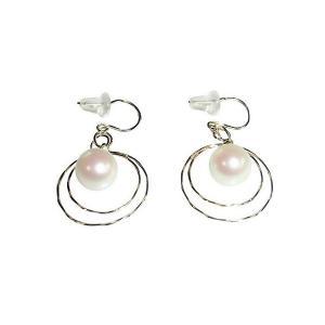 あこや 本真珠 パール K18YG ムーン デザイン  ピアス ホワイト 7.0-7.5mm 入学式 卒業式 フォーマル カジュアル 結婚式 パーティ|ohashi-pearl