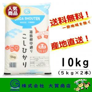 新米 2年産 コシヒカリ お米 米 白米 安い 美味しい 福島県産 送料無料 福島県中通り産コシヒカリ10kg|ohga-syouten