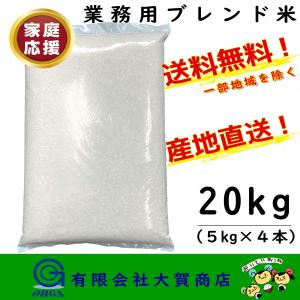 お買い得 安い米 お米 20kg 小分け 白米 ブレンド米 精米 送料無料 ブレンド米5kg×4本入り|ohga-syouten