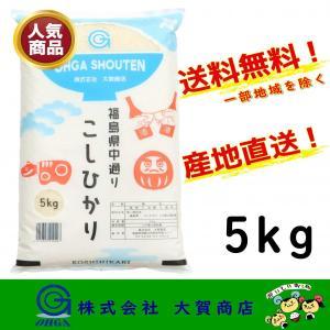 新米 2年産 コシヒカリ お米 米 白米 安い 美味しい 福島県産 送料無料 福島県中通り産コシヒカリ5kg|ohga-syouten